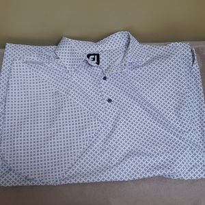 FootJoy White, grey and pink pattern golf shift